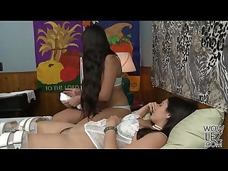 Mercedes Carrera takes care of a younger woman