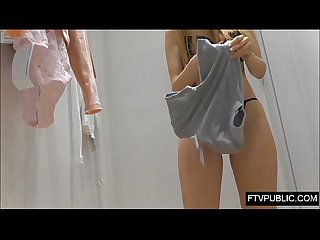 Inside girls changing room cameltoe pussy