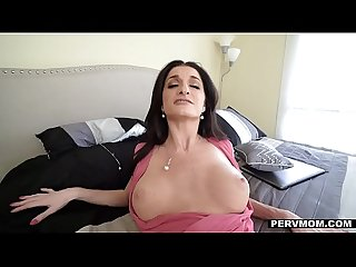 Pervmom big titty milf seduces stepson