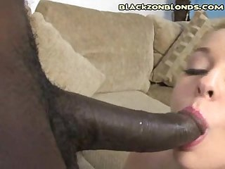 Innocent blonde hung black