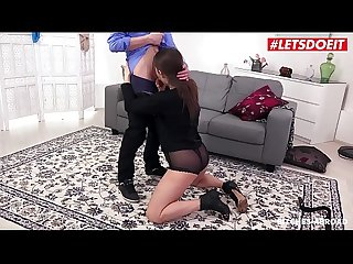LETSDOEIT - Russian Babe Scarlett Queen Fucks Her BF Before The Trip