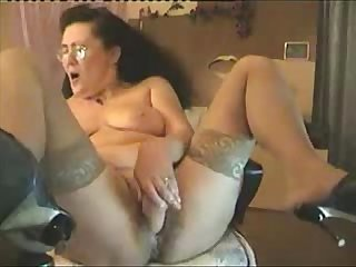 Hot hidden cam of my pervert mum masturbating