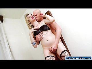 Busty big cock latin ts nanda molinari anal ride a guys cock