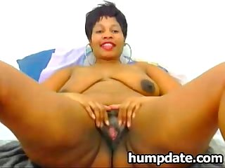 Black bbw with huge booty teasing