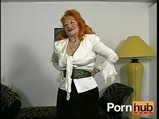 Red headed german granny shows off for the camera pornhub com