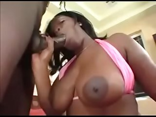 Fucking a Giant booty and creampie by a big black dick