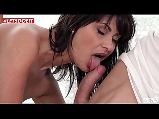 LETSDOEIT - Lucky Guy Gets Blown By Step Sis and Fucked By Step Mother