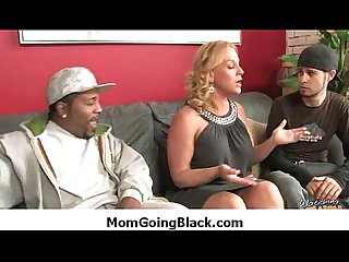 Watching my mom going black - Interracial MILF porn 44