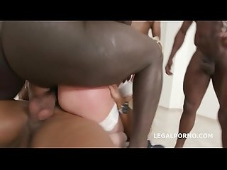 Barbie Sins goes Black for the first time with Balls Deep Anal and Gapes