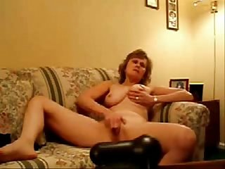Hot stolen video of my nude horny mom masturbating