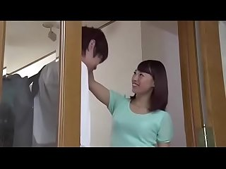 Sana mizuhara pretty stepmother helps two sons Blowjob