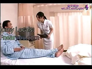Japanese nurse fucks with patient