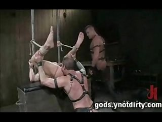Nick and Tylerdouble fuck a boy in tight bondage