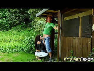 Watersports slut pissed