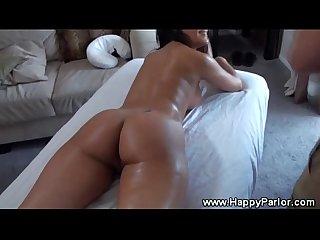 Brunette gets horny massage