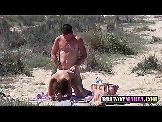 Dogging en la playa con dos parejitas jovenes de brunoymaria