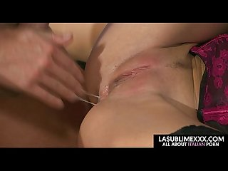 Blonde anal threesome lucky guy