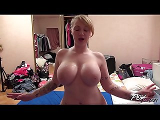 Moster Tits Blonde gets Cumshots from tired Dripping Pecker