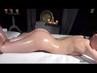 Latina masseuse tribbing blonde babe