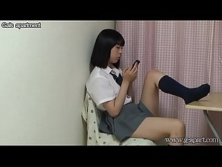 Japanese Schoolgirl Under Desk