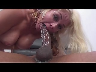Black monster cock filled Sarah Vandella's mature pussy