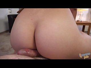 Zoey foxx jerking off a cock