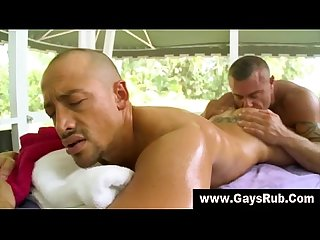 Rimming massage for straight guy