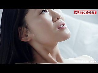 LETSDOEIT - College Teen Asian Katana Gets Pussy Licked And Hardcore Fucked By Western Lover
