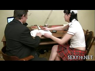 Wild pleasuring for elderly teacher