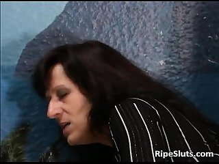 Mature slut with piercings on pussy