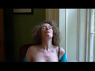 Linda shows off her tits and drools cum