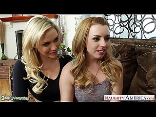 Beauty blondes lexi belle and mia malkova sharing a big cock pornhub com