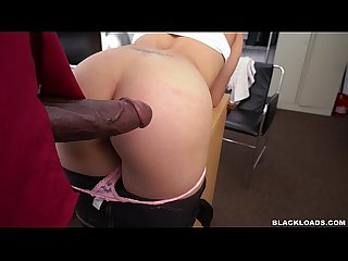 Amateur latina fucked on desk in backroms