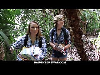 Daughterswap horny daughters fuck dads on camping trip