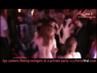 French Swinger party in a private club part 04