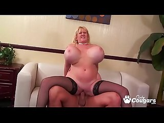 MILF Kaila Kleevange Has Her Huge Circus Titties Fucked