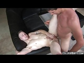 These two sexy muscular college studs are fucking eachother