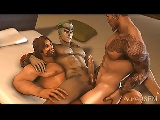 Hanzo and McCree fuck Genji - Overwatch SFM