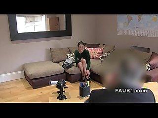 Spanish babe anal fucks in uk casting