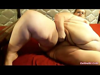Watch at me BBW milf with sexy glasses, masturbating my fat pussy!