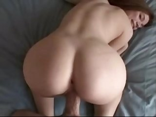 Stunning canadian blonde with rounded ass enjoying white monster cock from behind