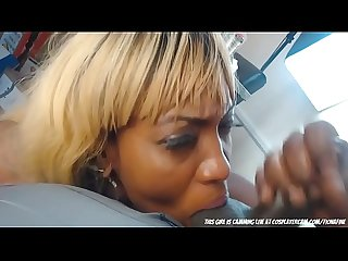 Black girl deepthroat her bbc
