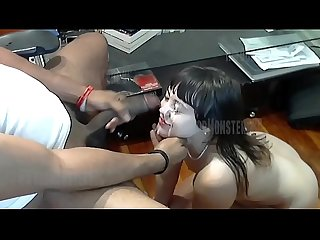 She Wanted To Know What It Was Like To Jerk Off A Huge Dick. Thick Load All Over Her..