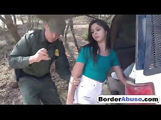 Brunette Teen Fucked On The Border