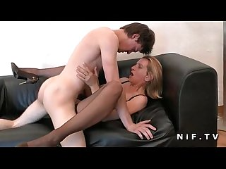 Mature cougar hard analized by young french guy