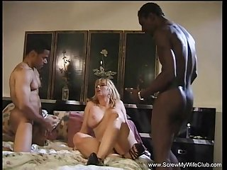 Interracial cuckold 3some quest for wifey