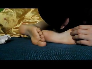 Slave lick smelly feet