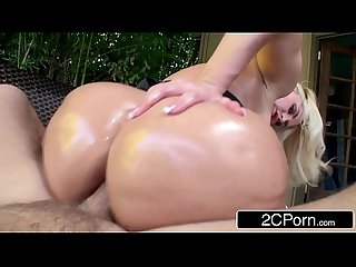 Notorious big booty blonde bimbo alena croft tries anal for the first time
