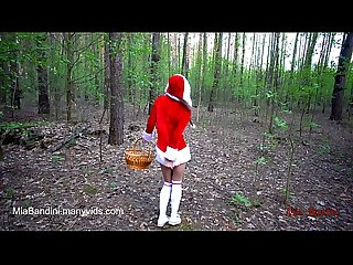 Little red riding hood is caught and fucked by Wolf in the Forest mia bandini