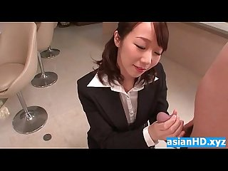 Licking hot asian secretary pussy and blow HD